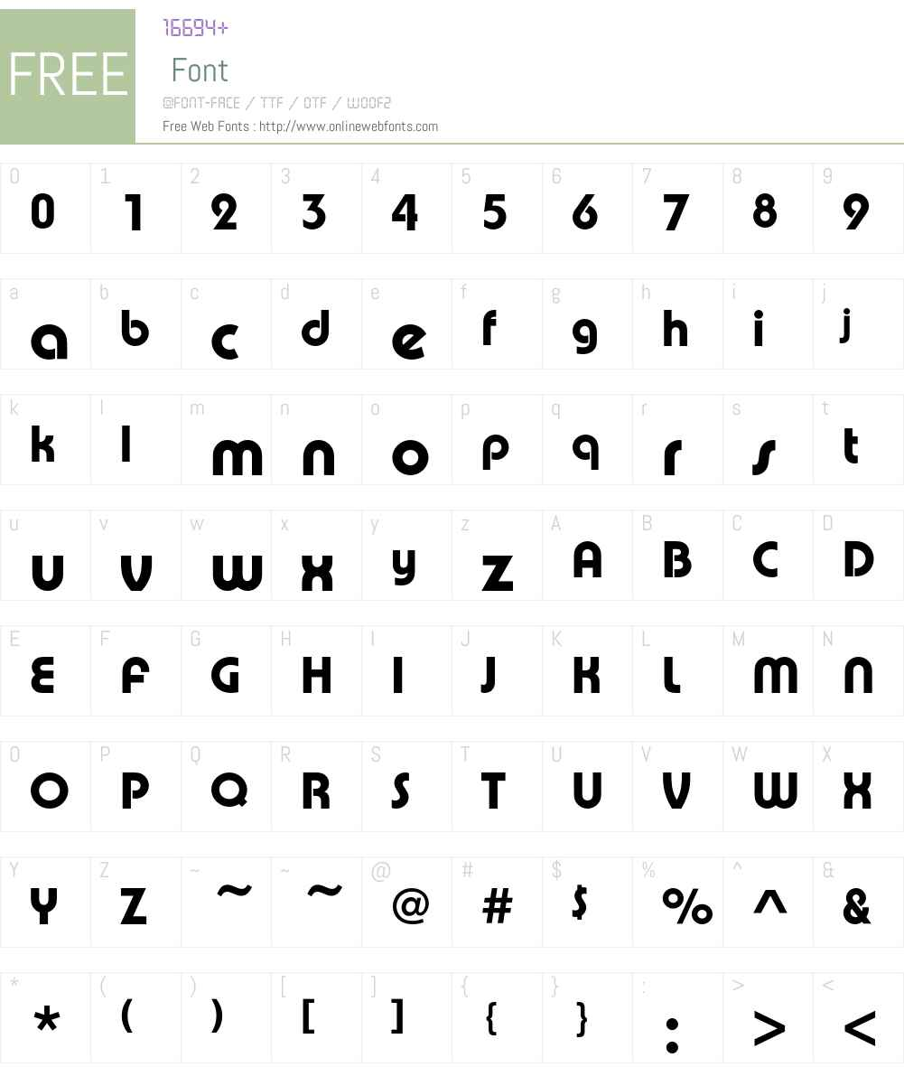 PumpEF Font Screenshots