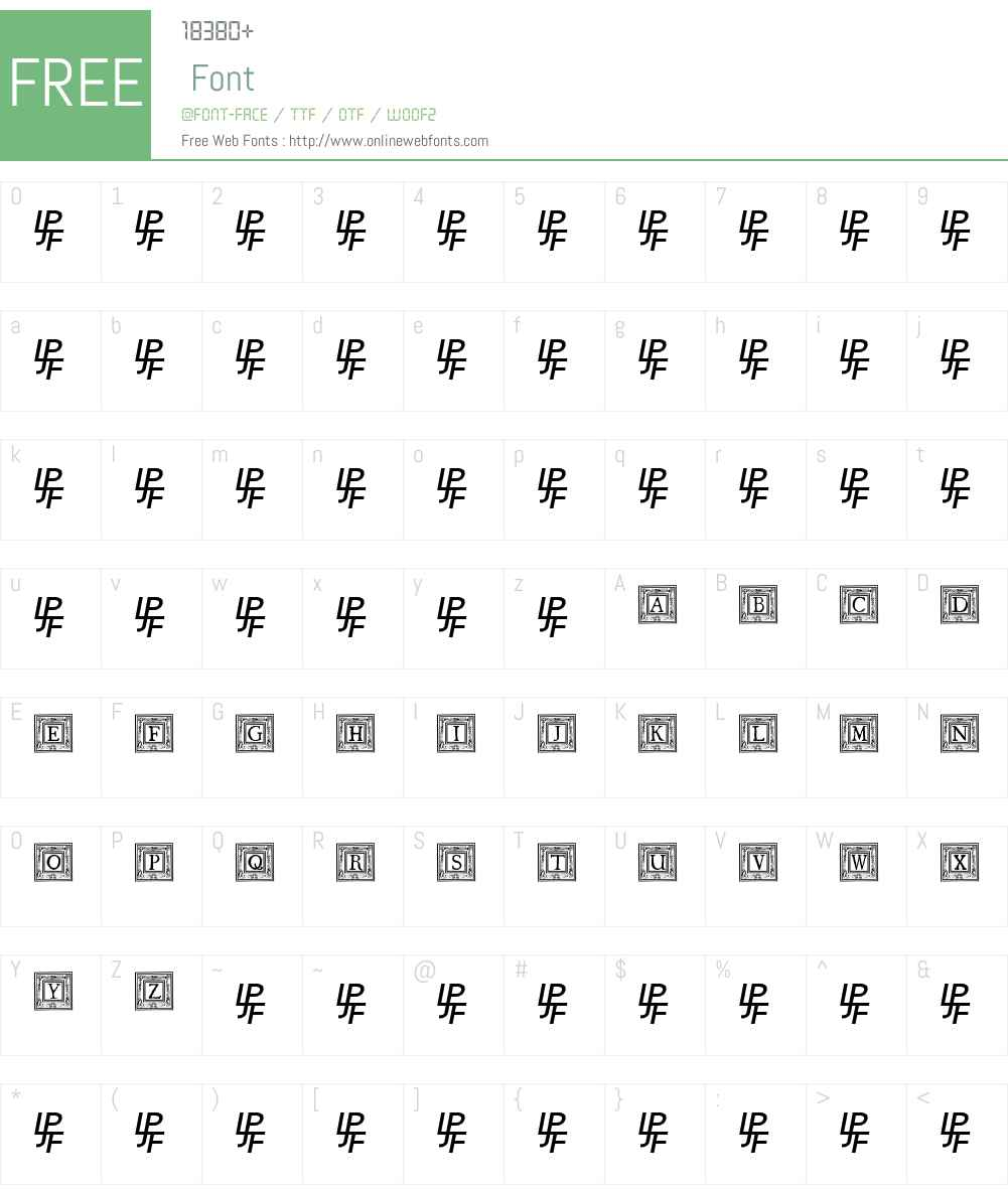 QuaNauticale_Initials_No1 Font Screenshots