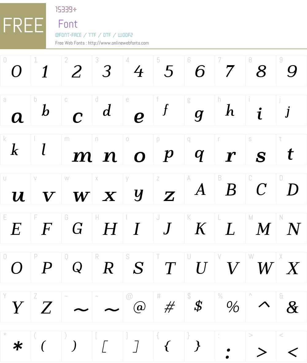 LastaW00-BoldItalic Font Screenshots