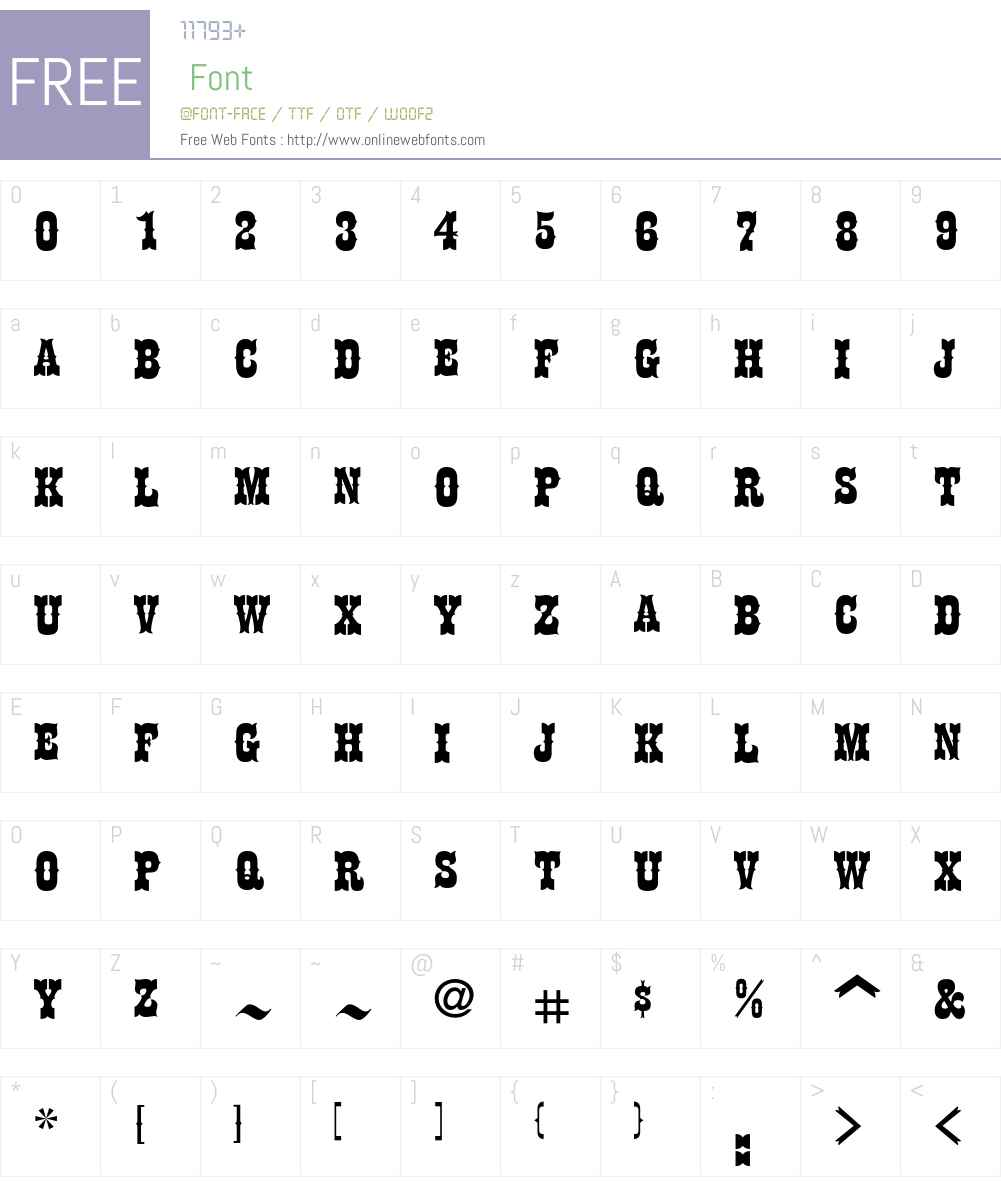 HaslerCircus Font Screenshots