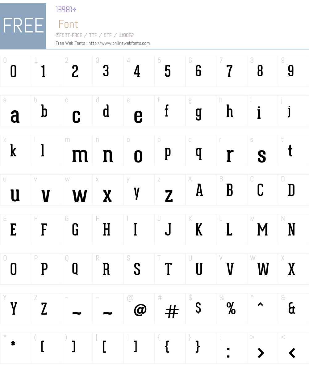 Geared Slab Font Screenshots