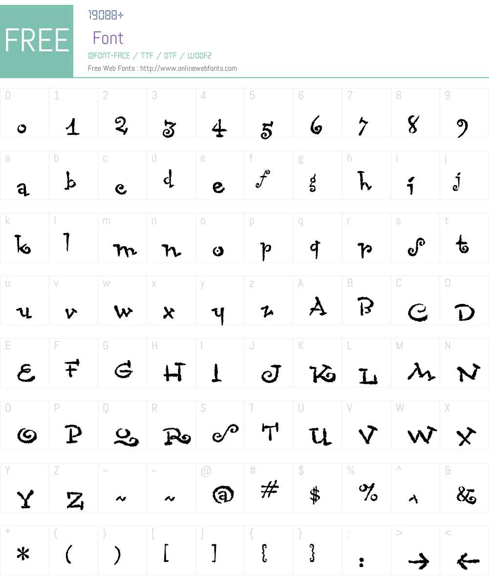 Chascarillo Font Screenshots