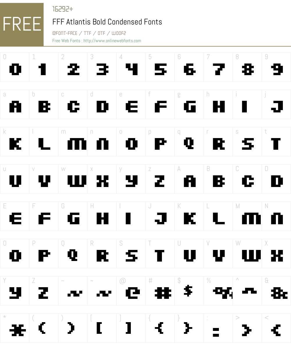FFF Atlantis Bold Condensed Font Screenshots
