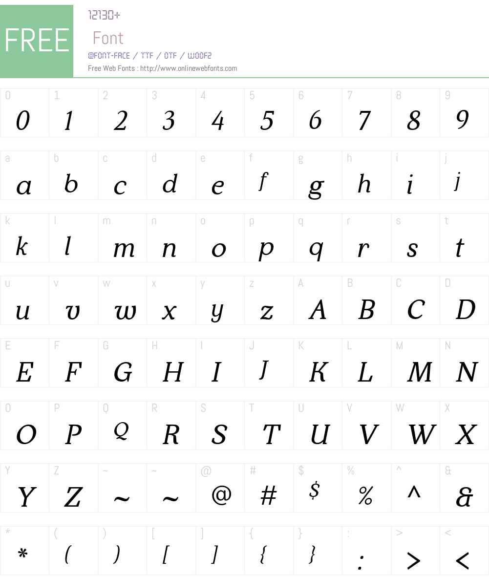 krka Font Screenshots