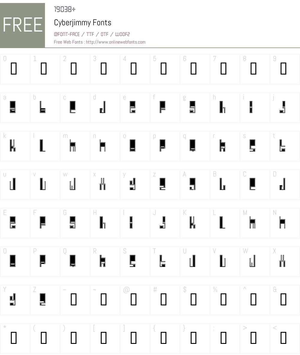 Cyberjimmy Font Screenshots