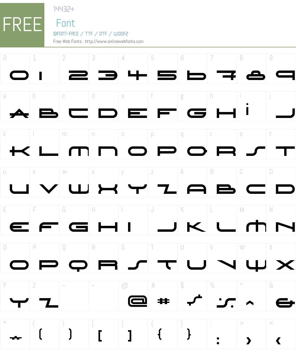 LordHaw Font Screenshots