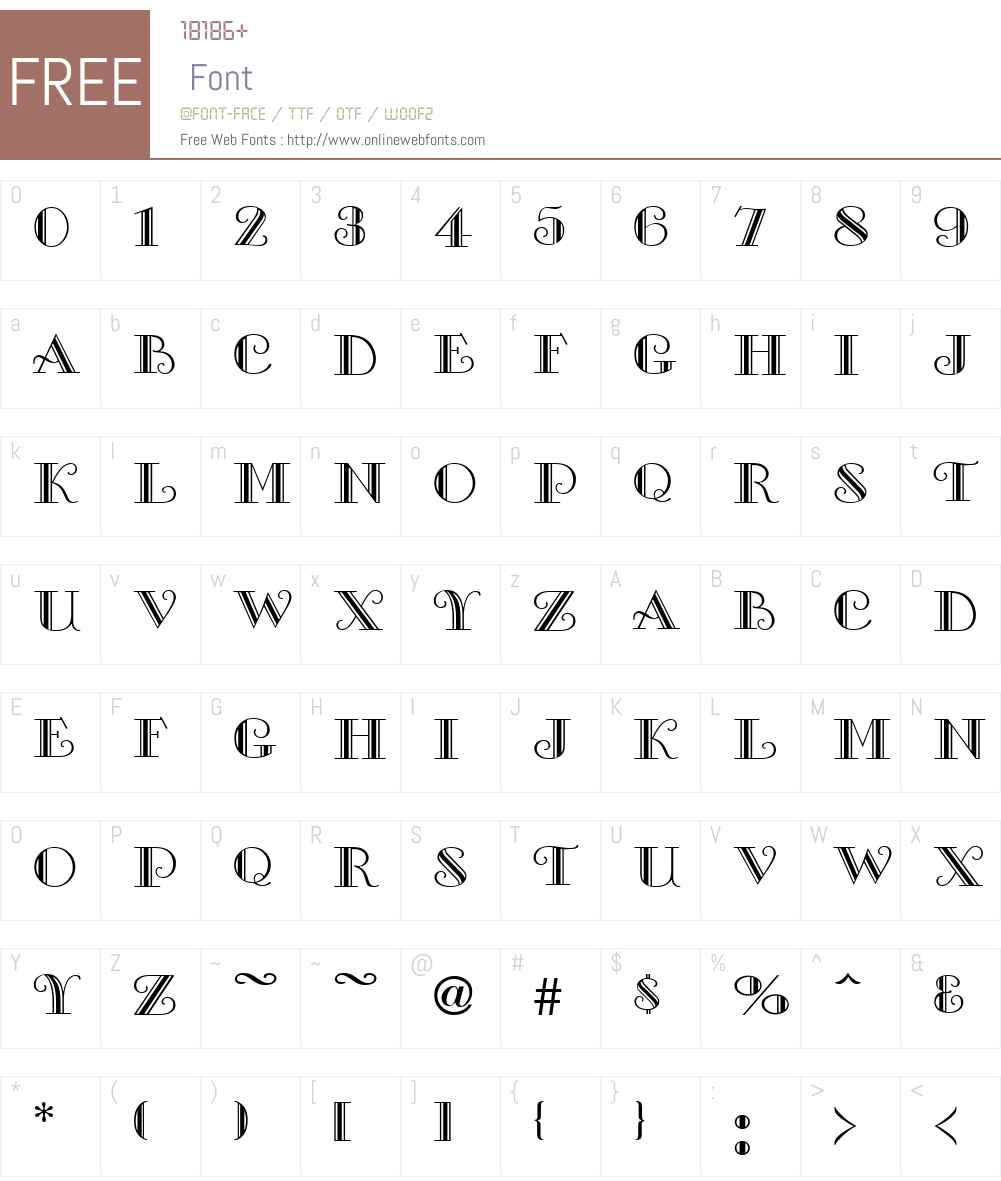 Galleria Font Screenshots