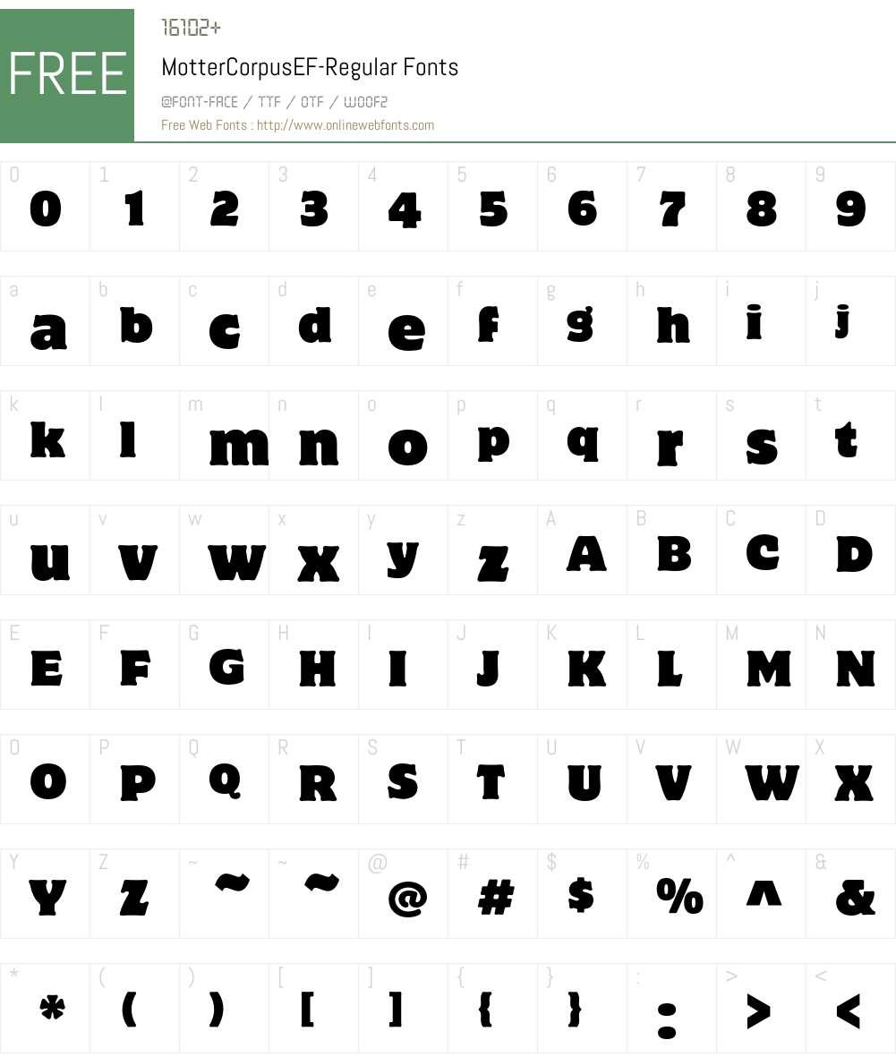 MotterCorpusEF Font Screenshots