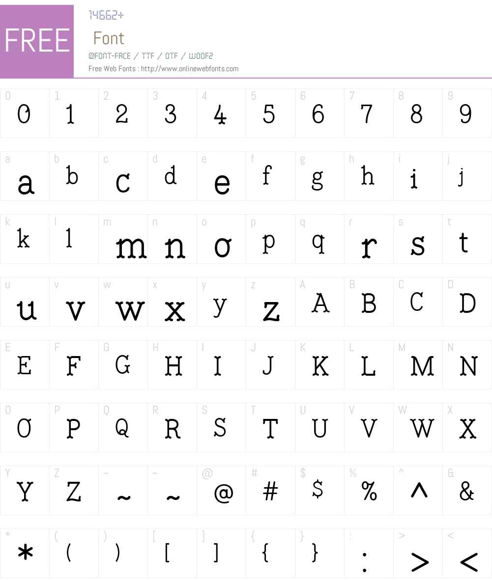 Lunica Font Screenshots