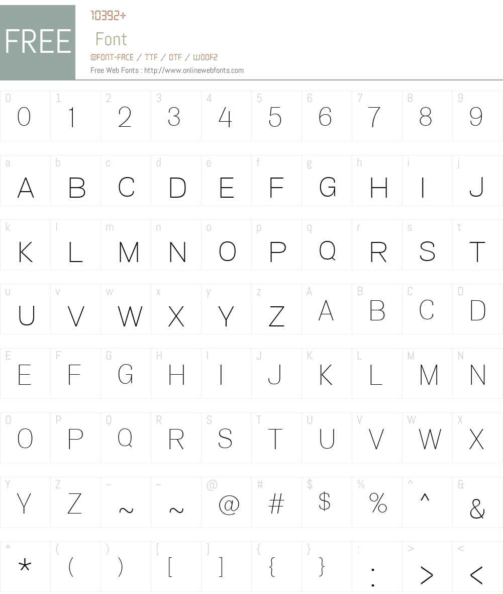 Air Font Screenshots