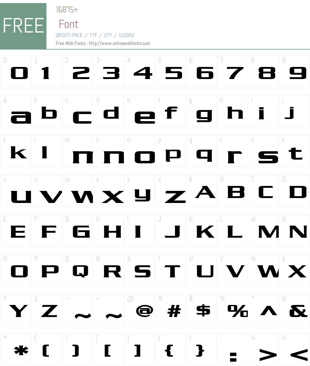 Chaney Extended Font Screenshots