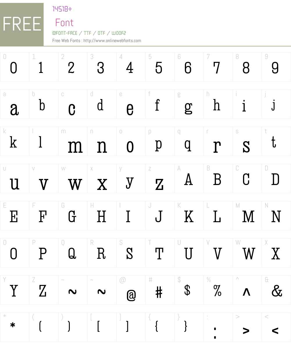 Deadwood Font Screenshots
