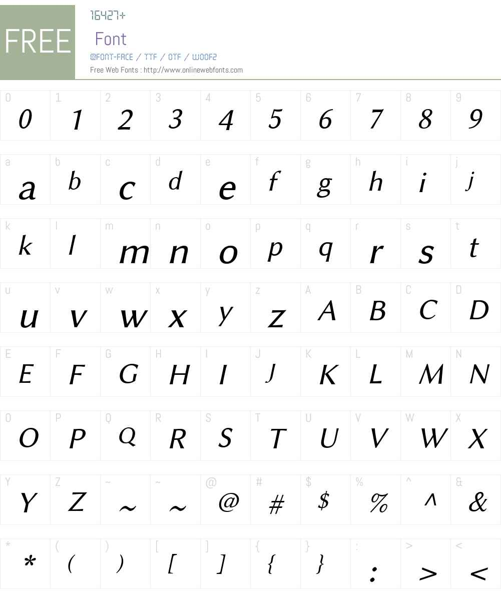 Linux Biolinum Slanted Font Screenshots