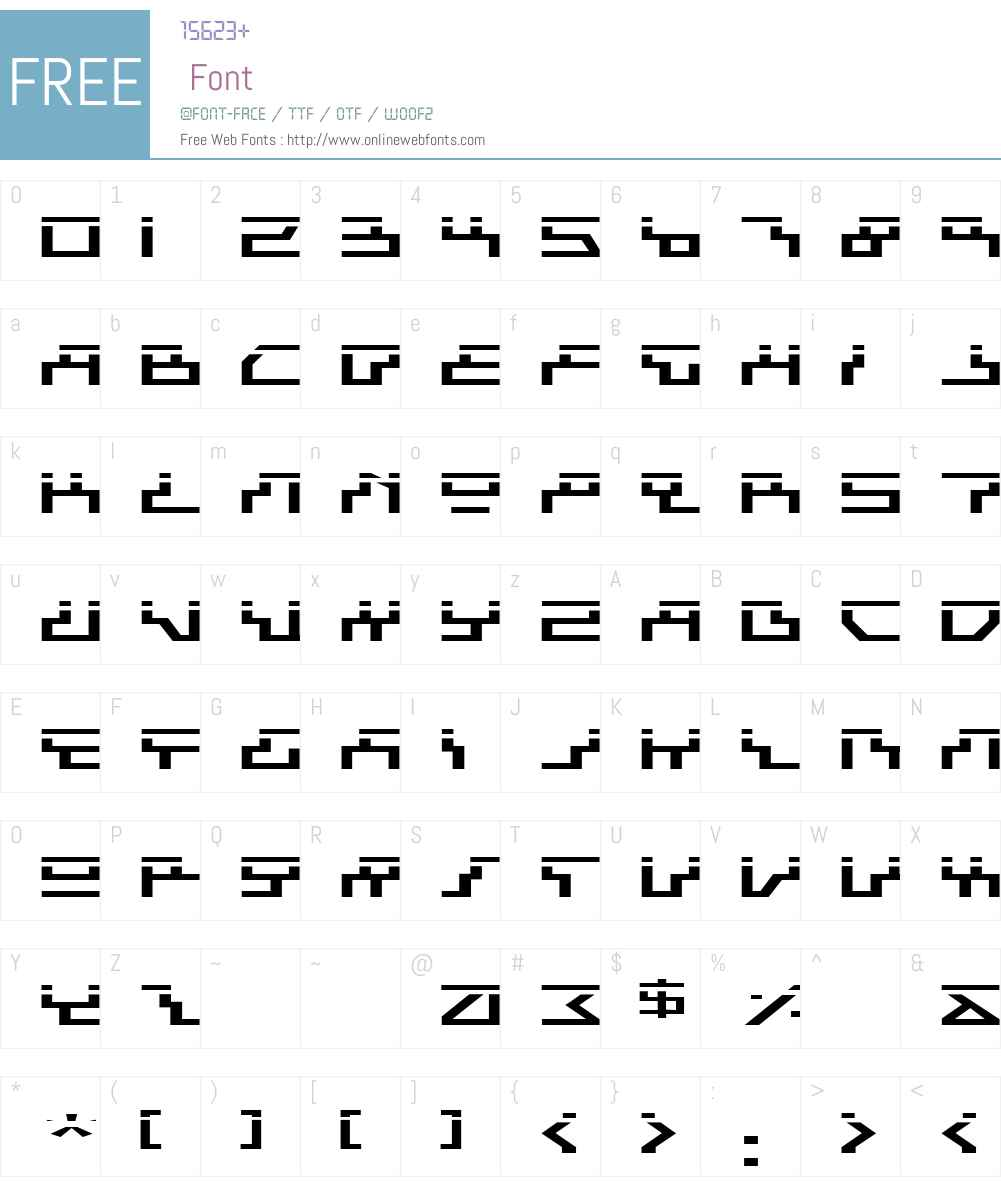Beam Rider Expanded Laser Font Screenshots