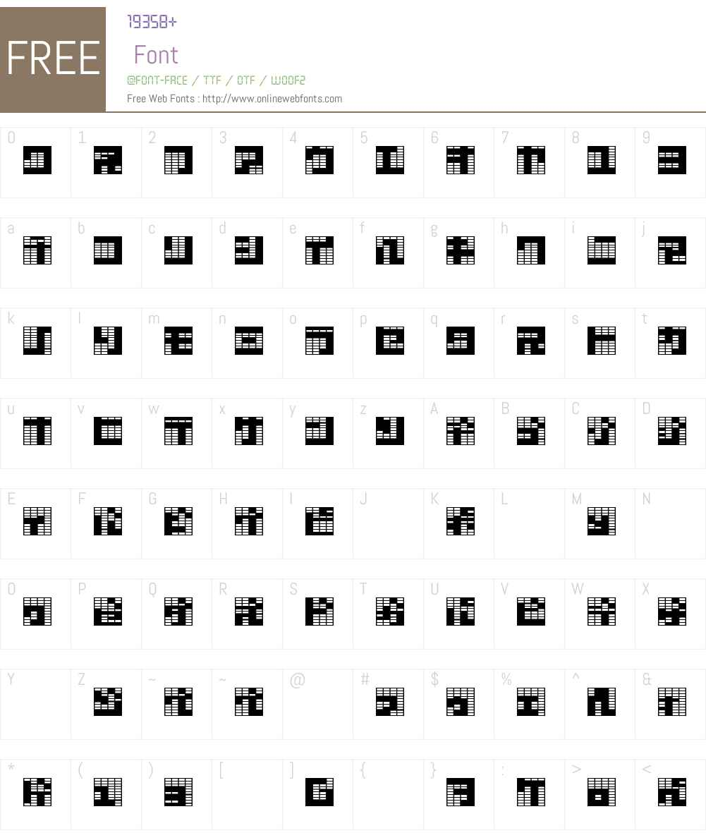 katakana,block Font Screenshots