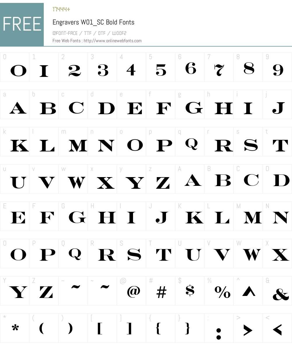 EngraversW01_SC-Bold Font Screenshots