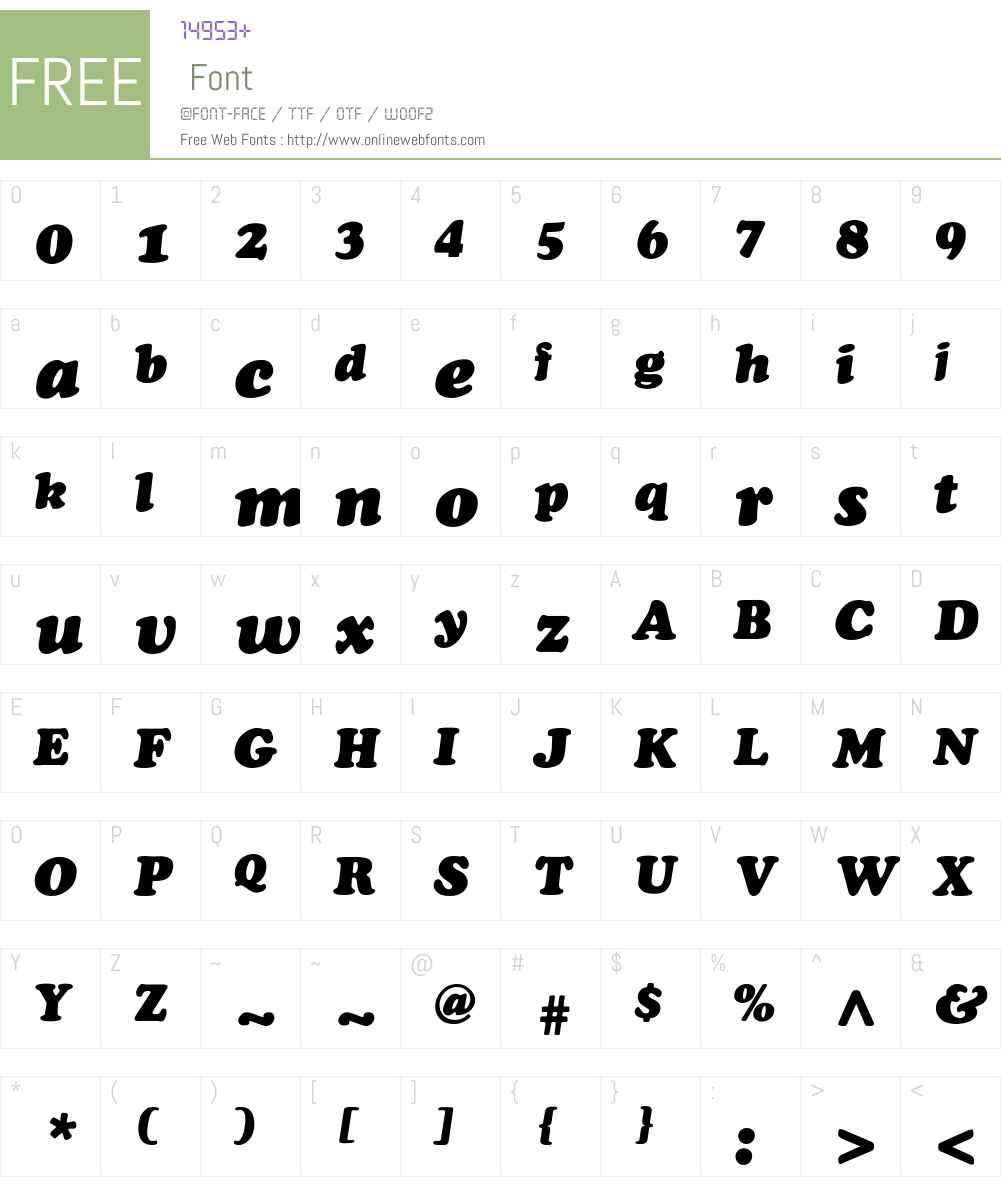 ChaceyBlack-Thin-Italic Font Screenshots