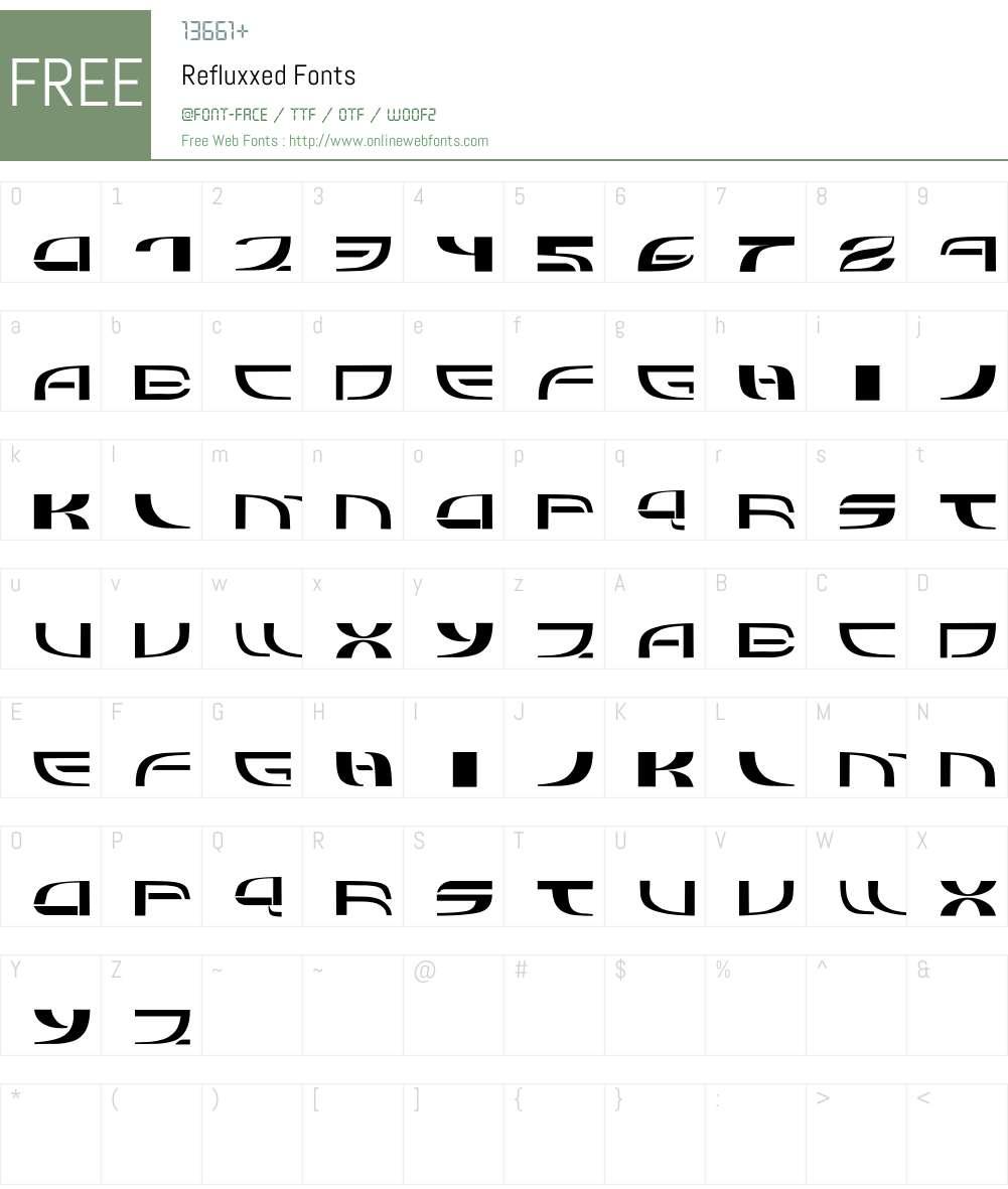 Refluxxed Font Screenshots