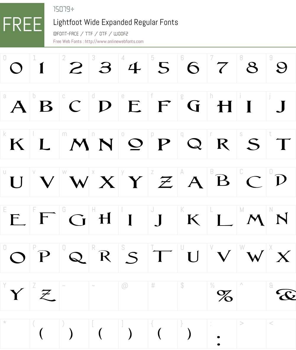 Lightfoot Wide Font Screenshots