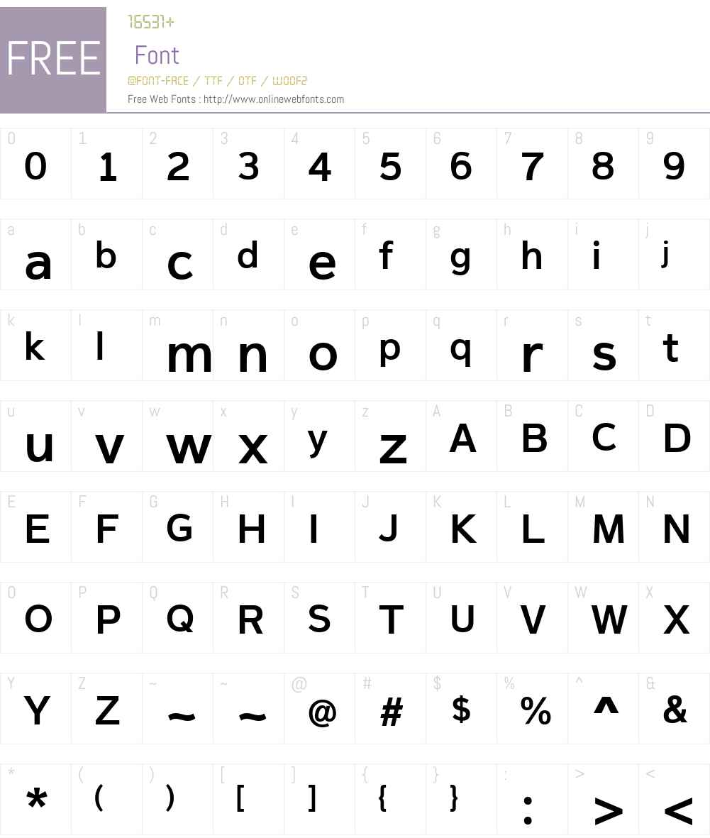 MagnumSansW01-SemiBold Font Screenshots