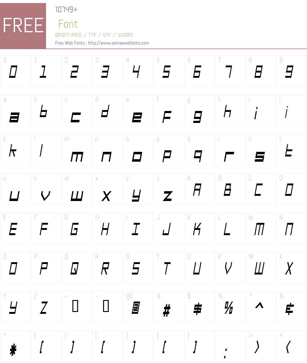 SF Square Head Condensed Font Screenshots