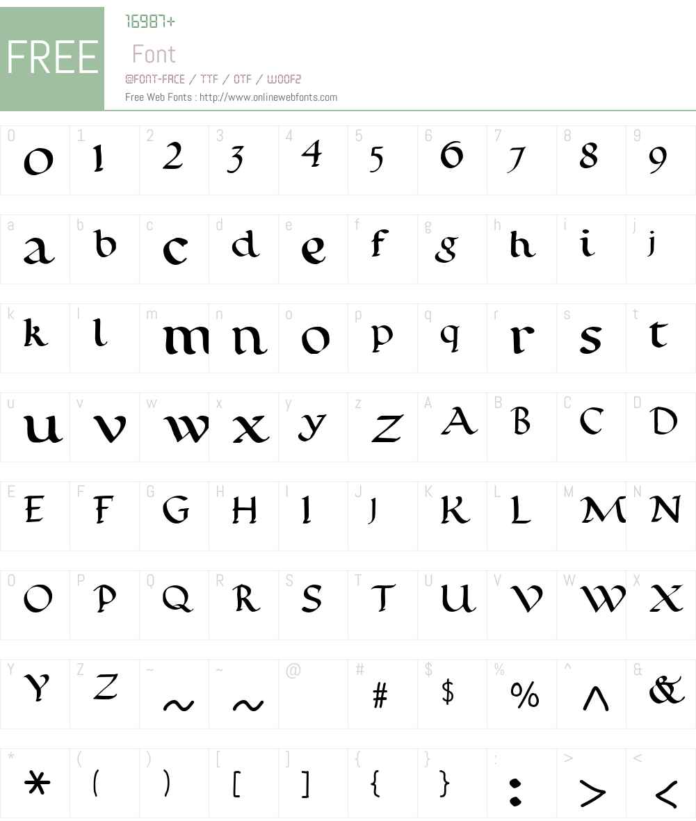 Calligraphy Pen Font Screenshots