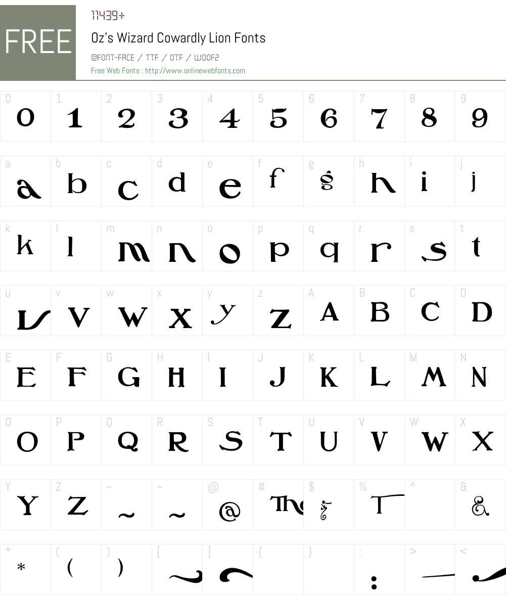 Oz'sWizard Font Screenshots