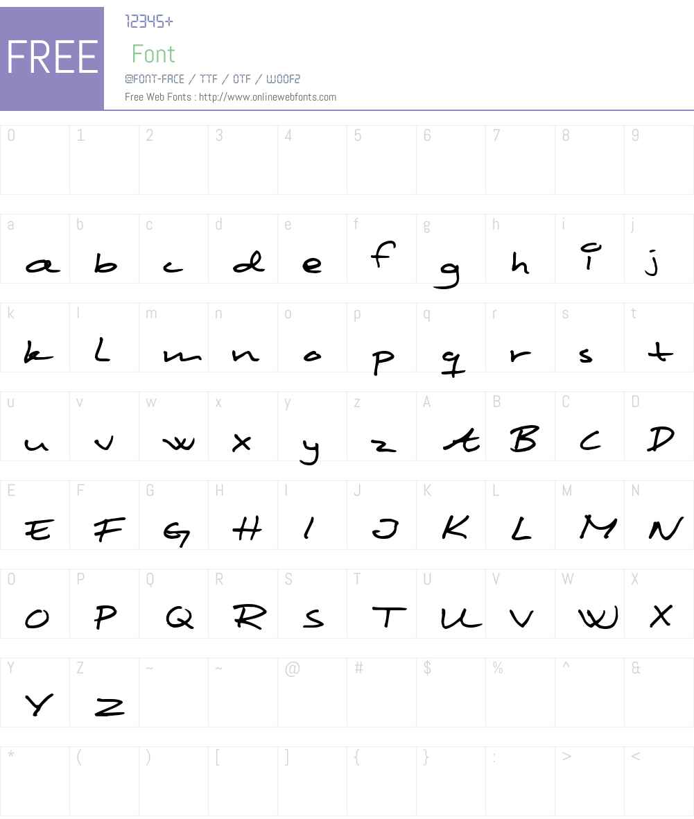 Scribbled Monkey Font Screenshots