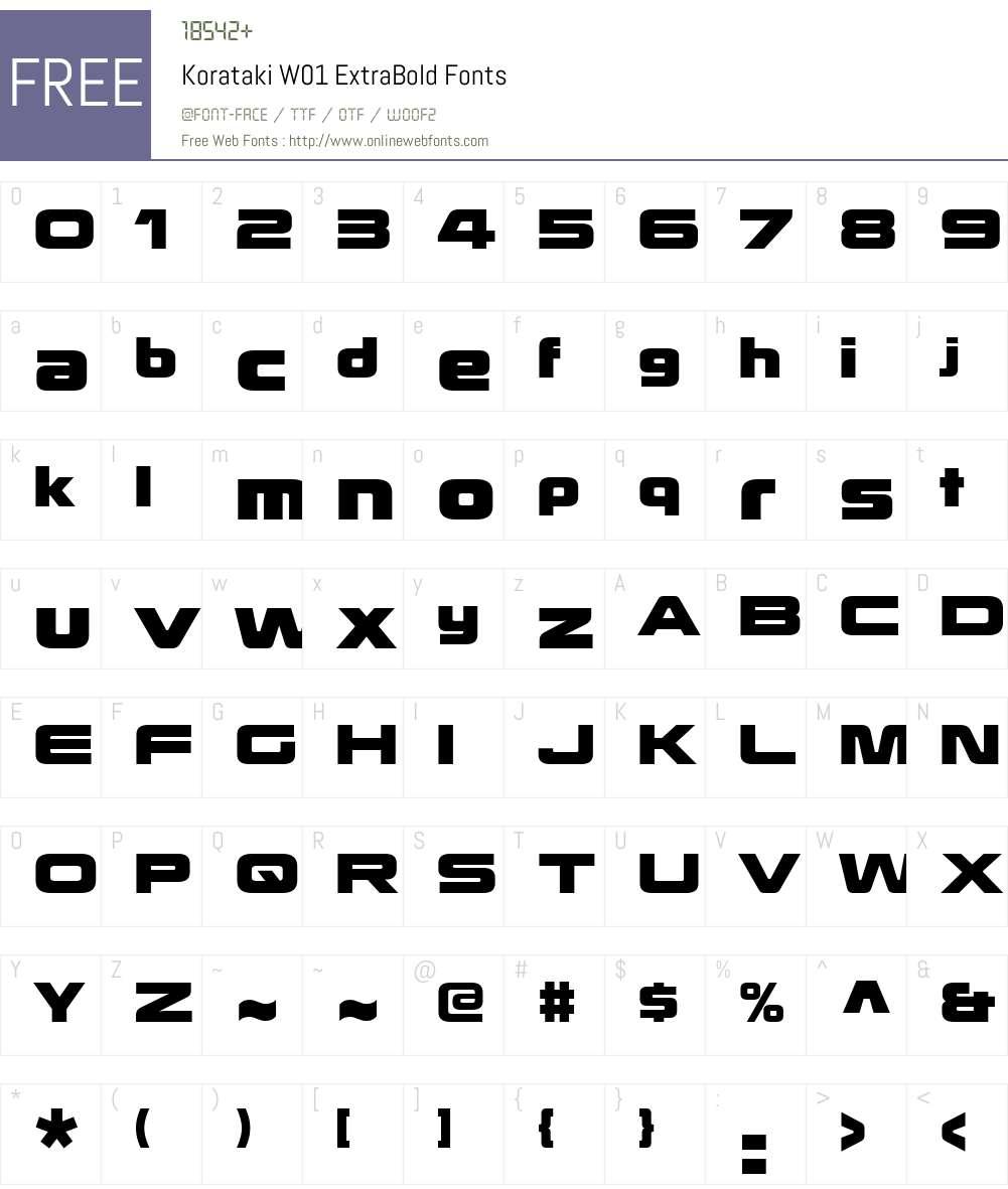 KoratakiW01-ExtraBold Font Screenshots