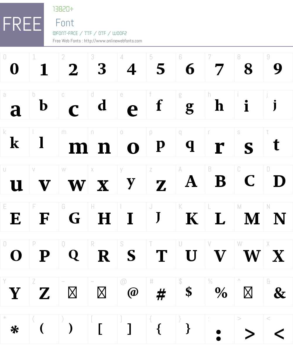 Adobe Clean Serif Black Font Screenshots