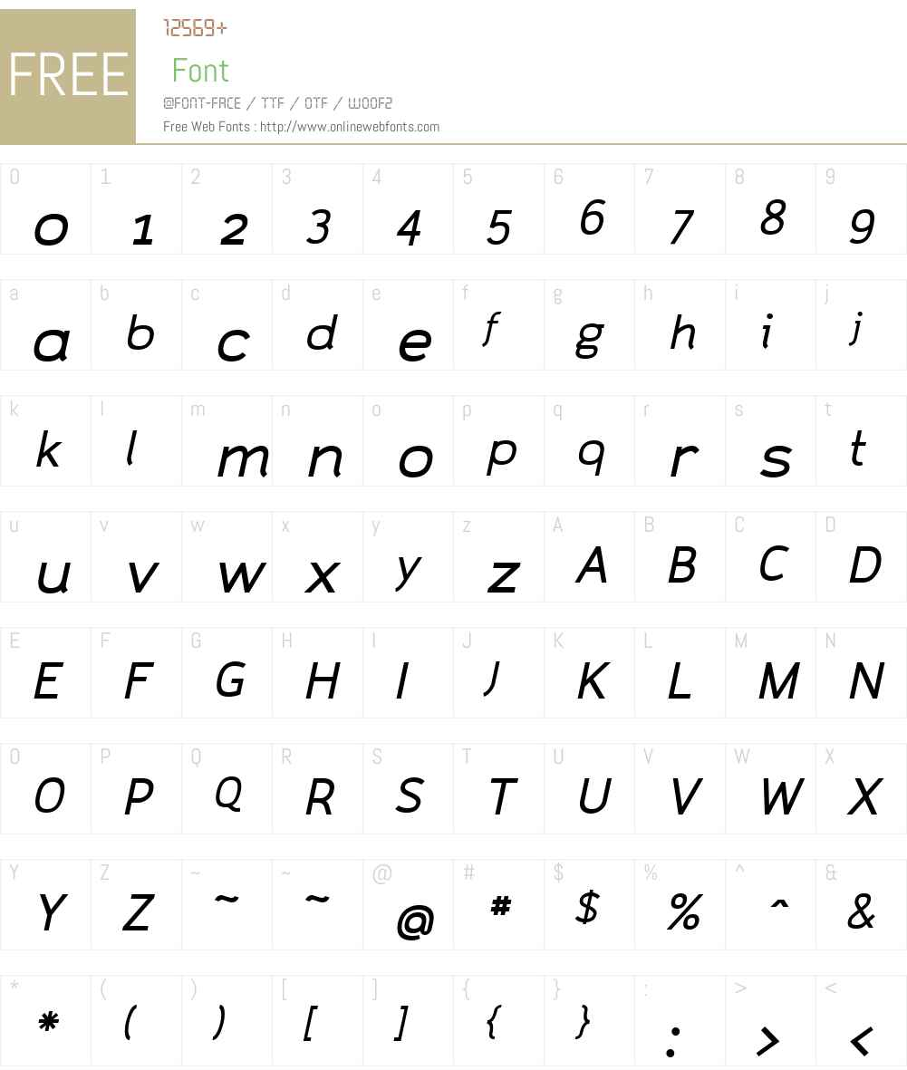 CAZaracusaW00-WideItA Font Screenshots
