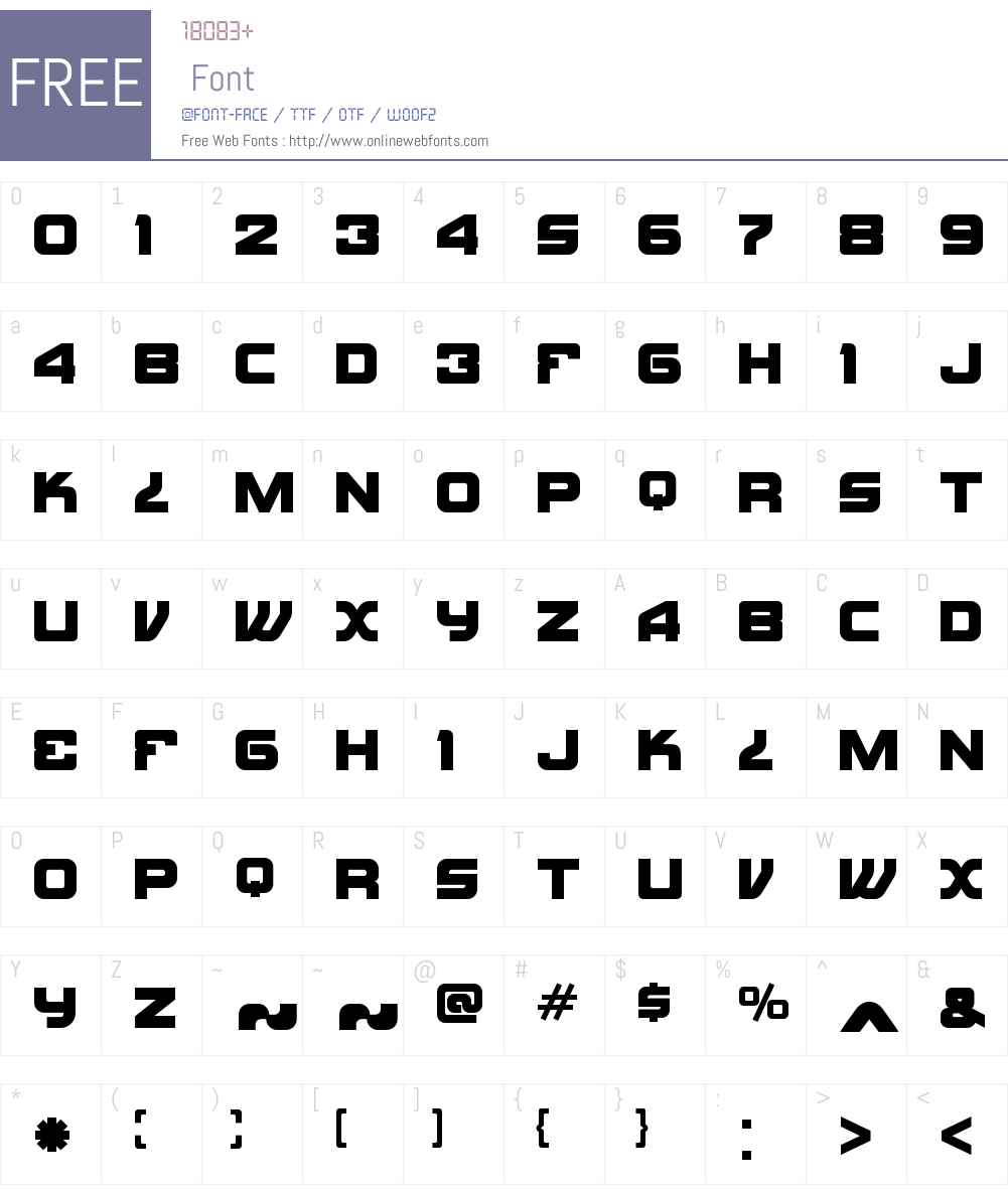 TakuSolidW00-Regular Font Screenshots