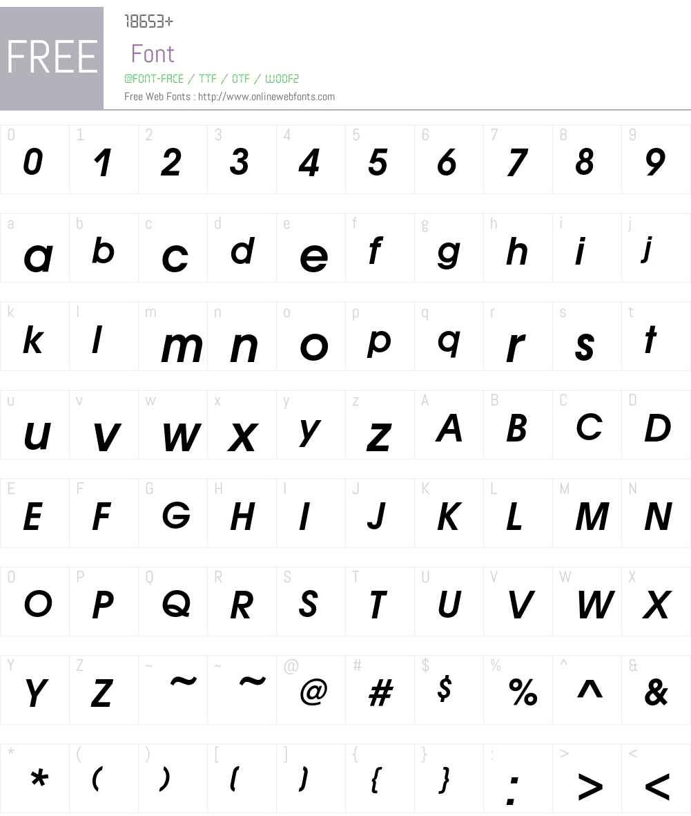 AvantGardeITC Font Screenshots