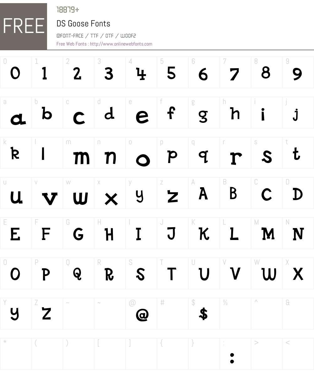 DS Goose Font Screenshots