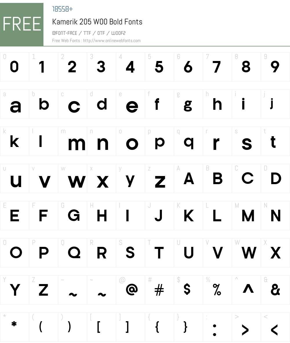 Kamerik205W00-Bold Font Screenshots
