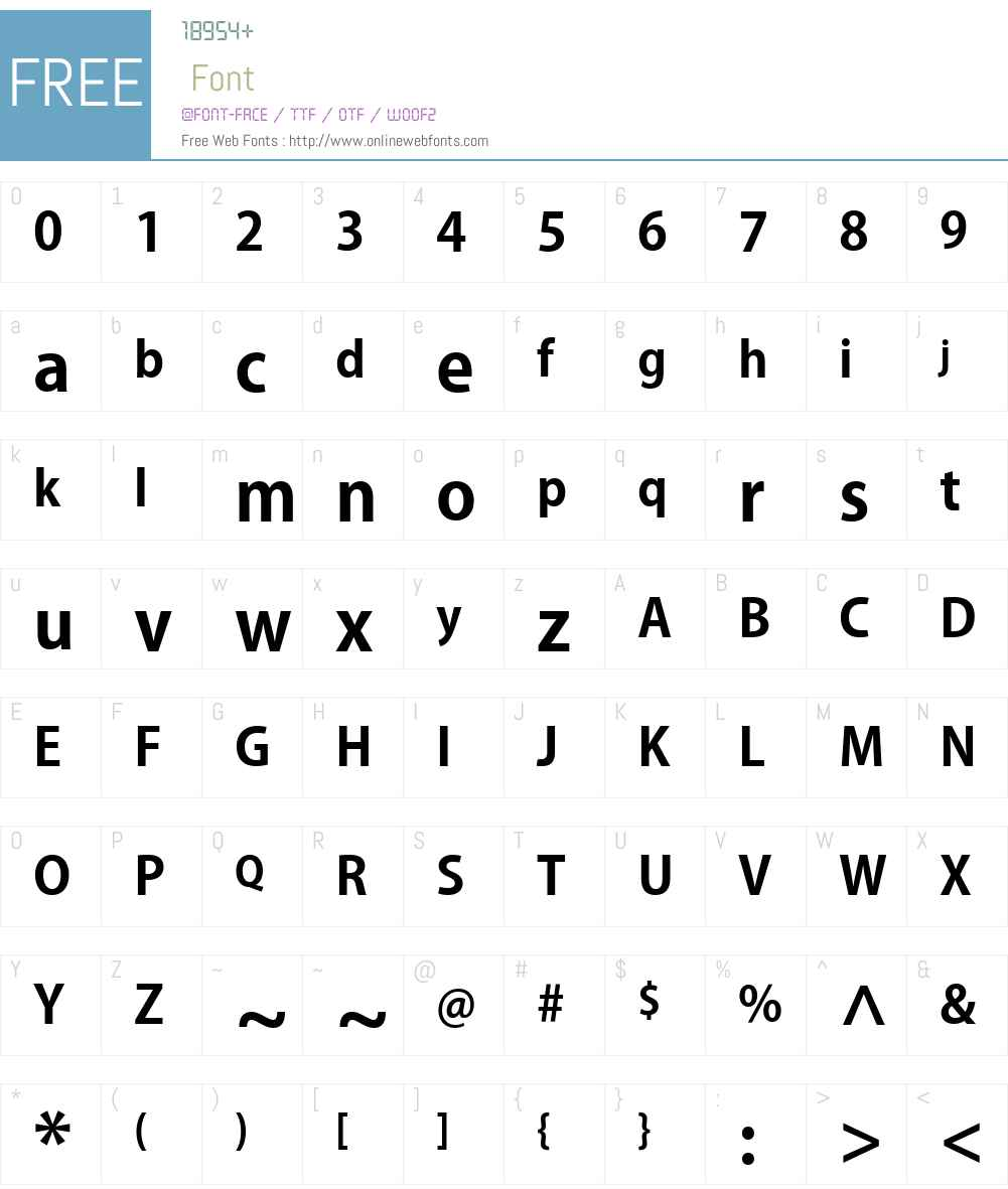 PlusN B Font Screenshots