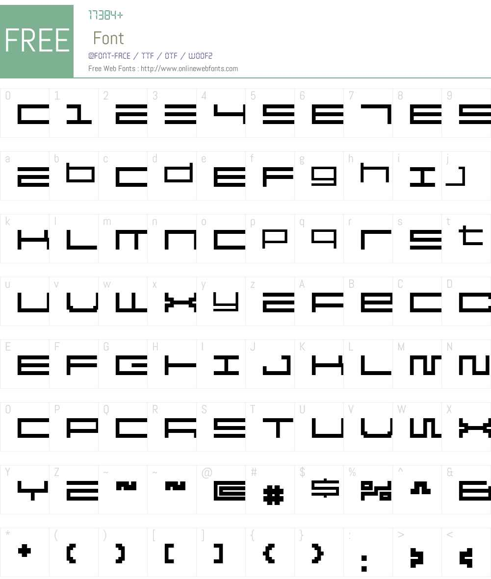 Reversion Font Screenshots