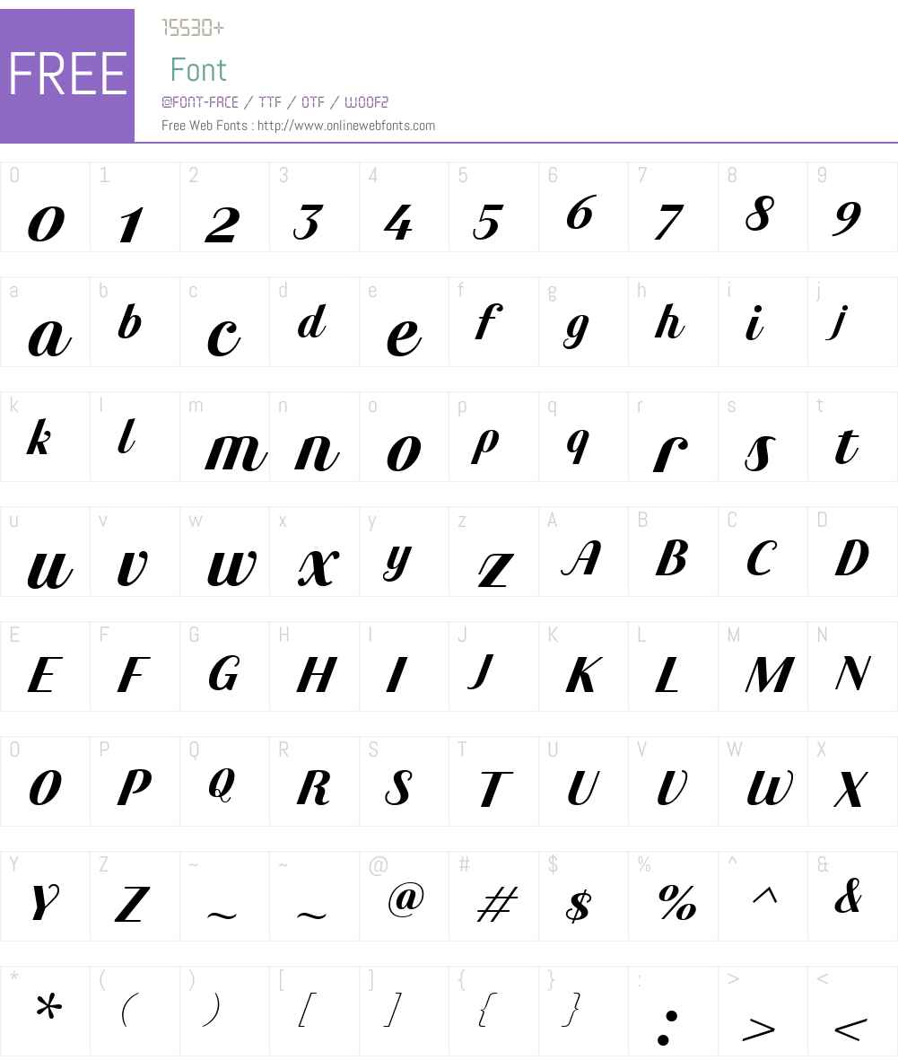Maryleen FY Font Screenshots