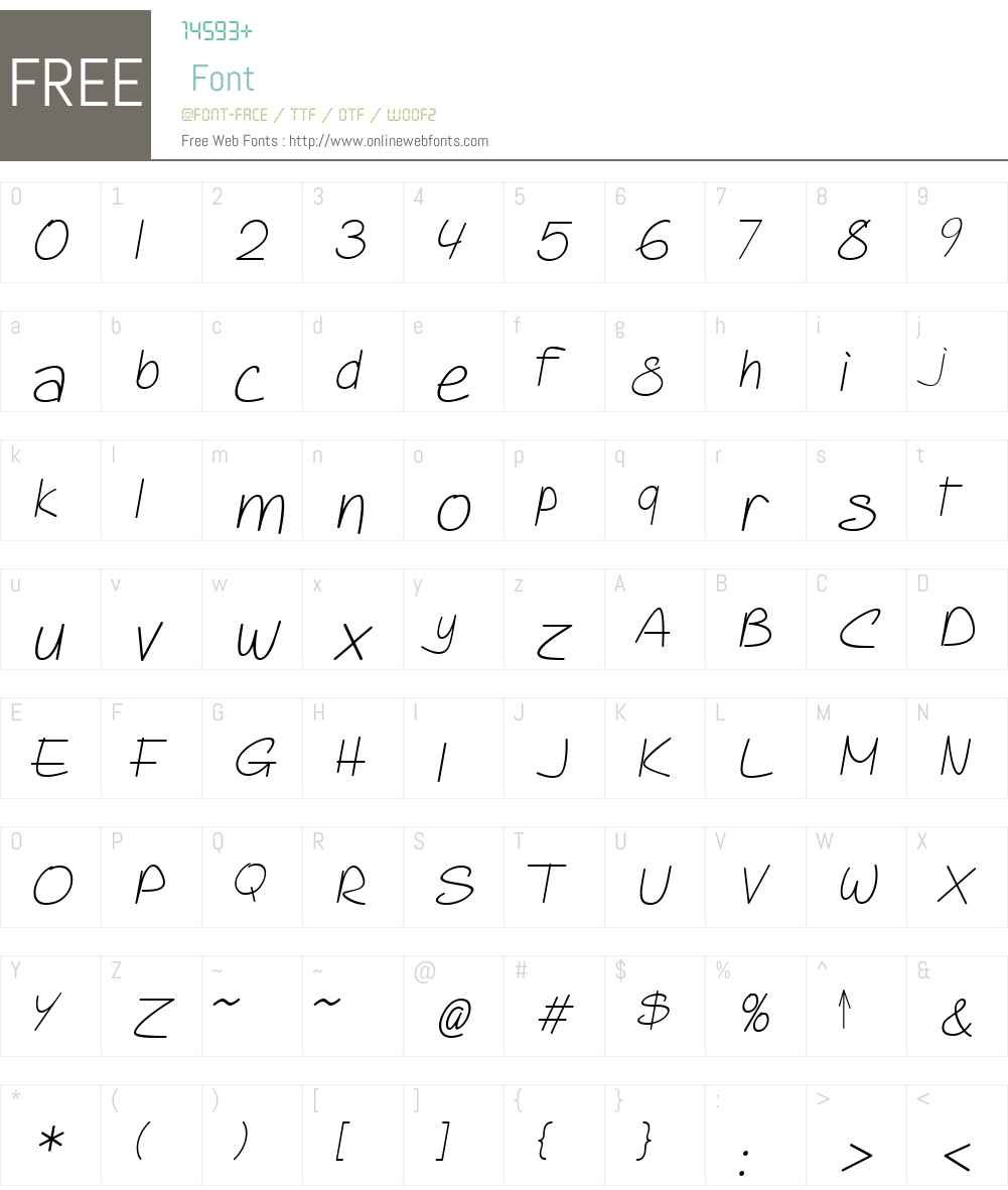 PIXymbolsCasualW01-LtItal Font Screenshots