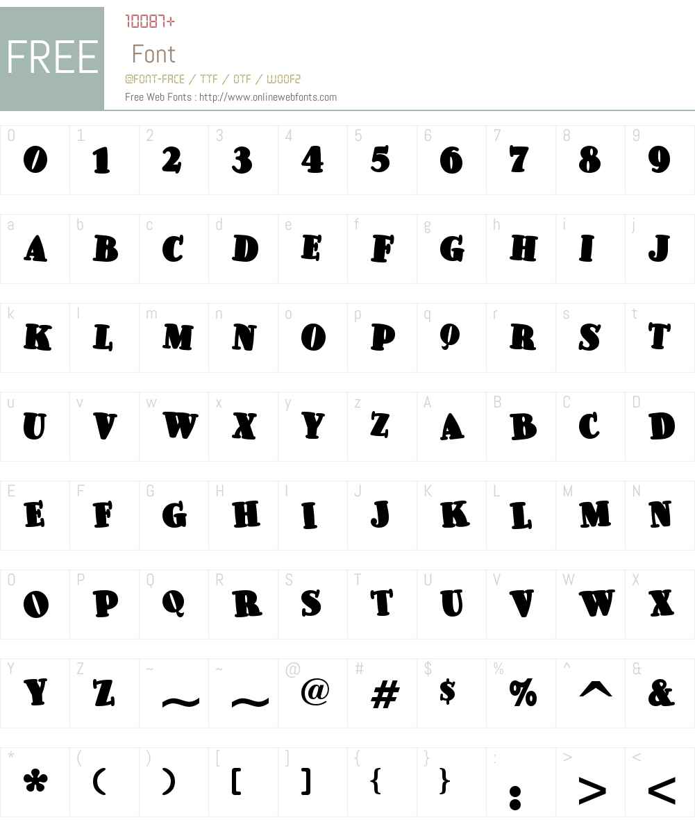 Pleasingly Plump NF Font Screenshots