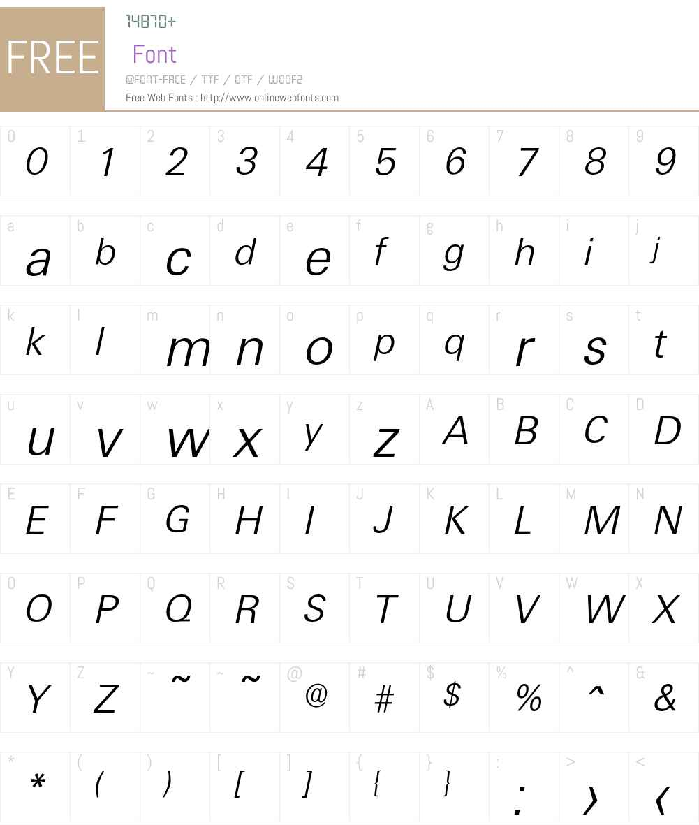 Ultimate-LightIta Font Screenshots