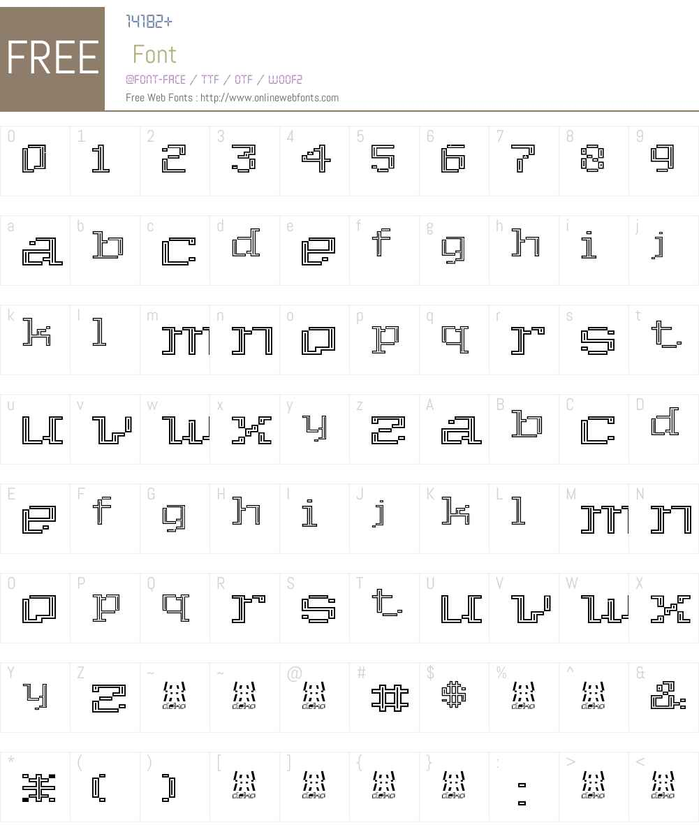 Deko Font Screenshots