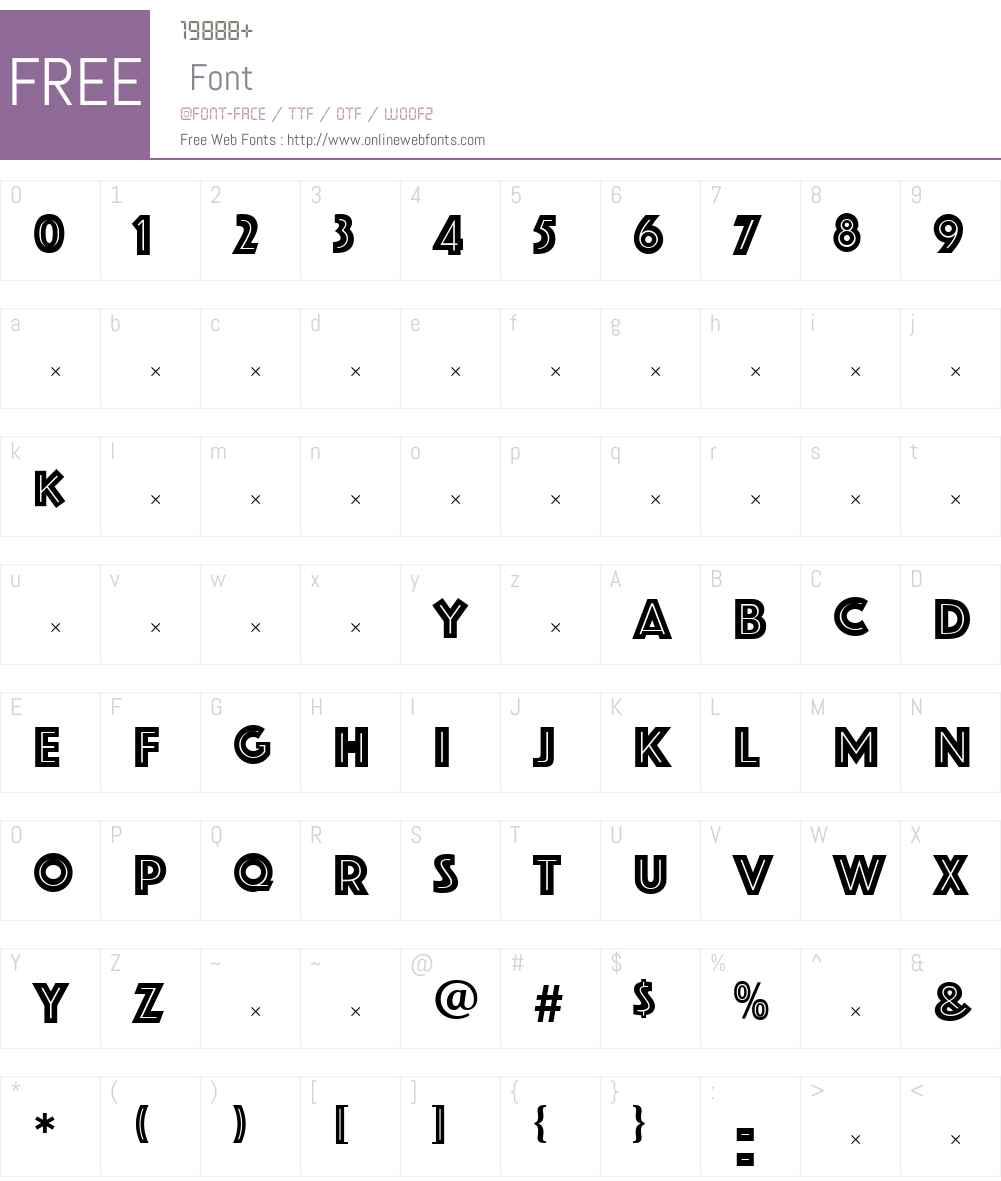 PhosphateInline Font Screenshots