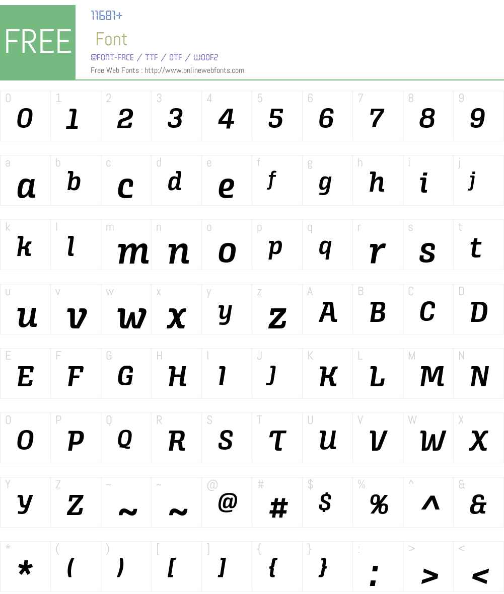 Alianza Italic 600 Font Screenshots
