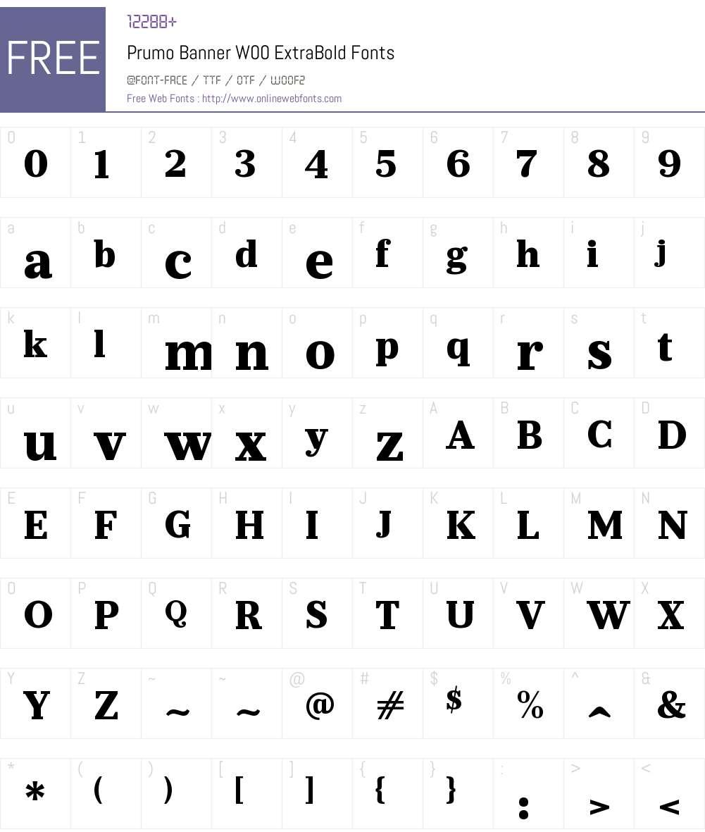 PrumoBannerW00-ExtraBold Font Screenshots