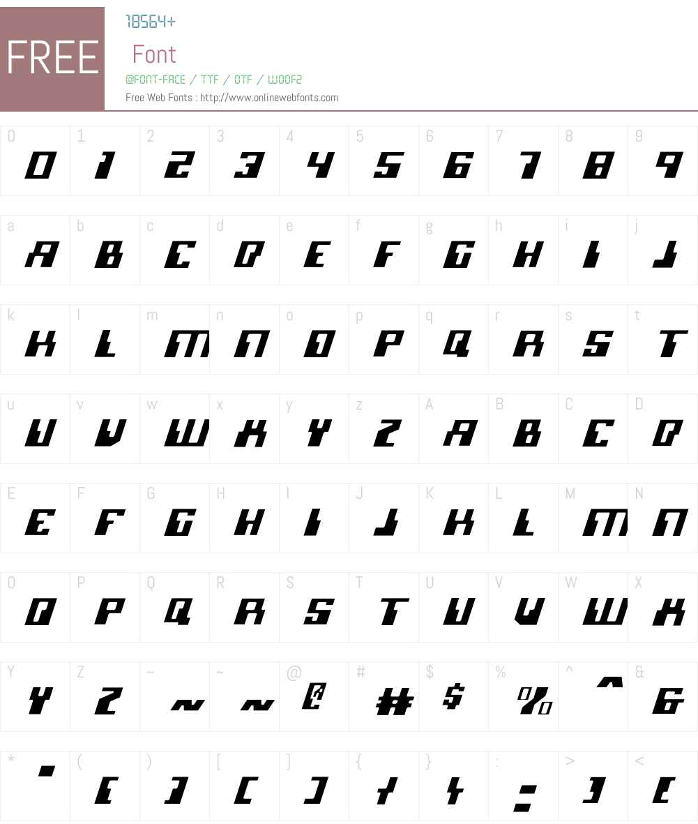 Micronian Light Italic Font Screenshots