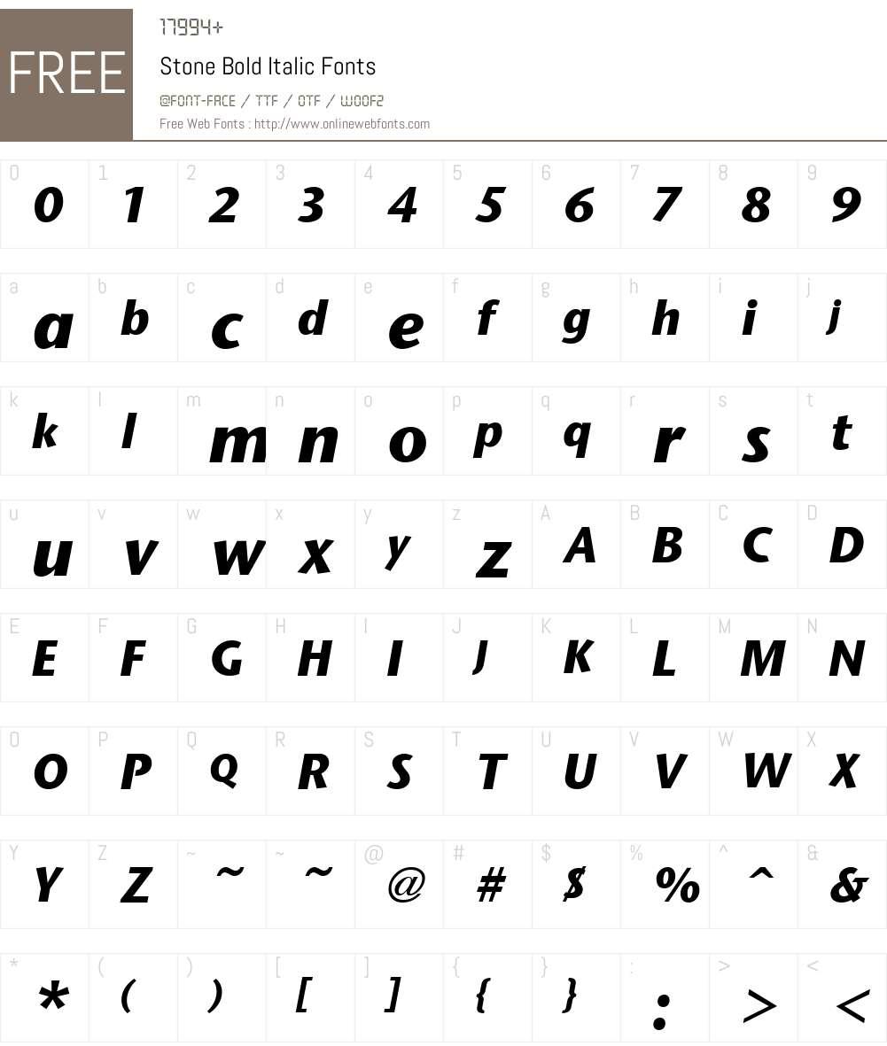 Stone Font Screenshots