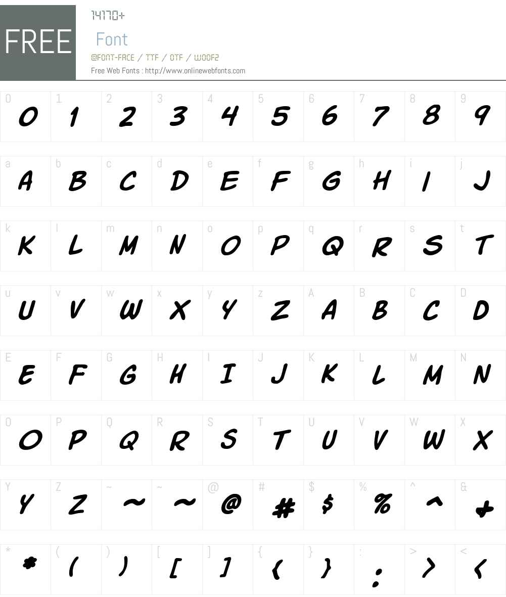 Komika Slick Font Screenshots