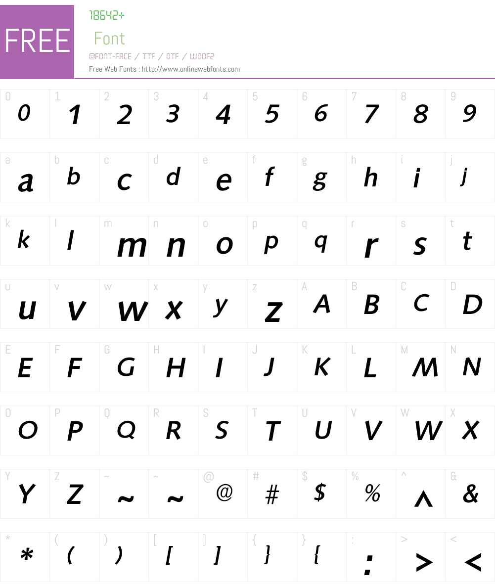 Isaxony Font Screenshots