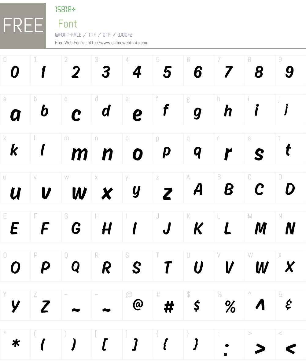 AhkioW00-Light Font Screenshots